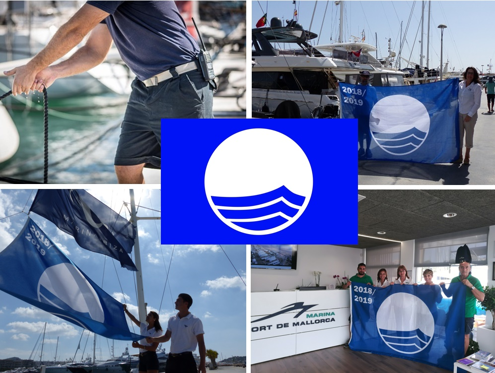 Blue Flag will fly one more year in  Marina Port de Mallorca, Marina Palma Cuarentena and Marina Ibiza