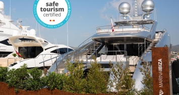 Marina Ibiza is certified as a Safe Tourism Marina and gets the Blue Flag for the eighth consecutive year