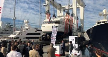 Con la incorporación del nuevo travelift de 1.000 tn, STP Shipyard Palma se consolida como referente mundial en la reparación de yates