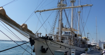 El buque escuela Cervantes Saavedra en Marina Palma Cuarentena