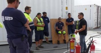 Diario de los trabajadores de STP Shipyard Palma después de un intenso simulacro de emergencia