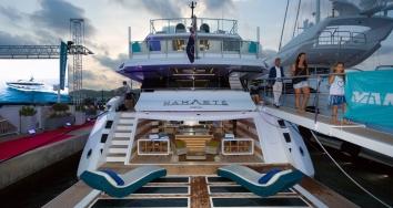 M/Y Namaste despliega su belleza  en Marina Ibiza