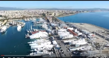 Flying over STP Shipyard Palma in high season at 100% occupancy