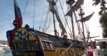 Shtandart sails in Marina Palma Cuarentena and Marina Ibiza's waters