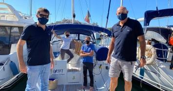 Marina Ibiza colabora con Tursiops en su parada estratégica en la isla, durante sus grabaciones experimentales