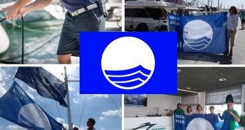 La Bandera Azul ondeará un año más en  Marina Port de Mallorca, Marina Palma Cuarentena y Marina Ibiza