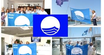 La Bandera Azul se iza de nuevo en Marina Port de Mallorca, Marina Palma Cuarentena y Marina Ibiza