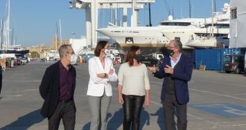 STP Shipyard Palma presenta sus instalaciones a la Ministra de Industria, Comercio y Turismo, Reyes Maroto