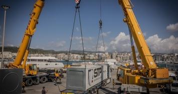 Comienza con éxito el montaje del nuevo travelift en STP Shipyard Palma